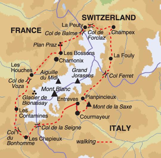 France Alps Tour du Mont Blanc Circuit Selfguided