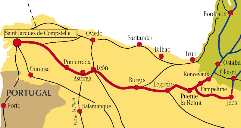 Camino Walk Spain Map.Spain Walking The Camino Frances St Jean Pp To Logrono